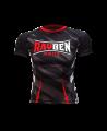 Rayben Zero Rashguard Kurzarm schwarz/rot (Bild-1)