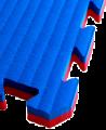 FW Kampfsportmatte Cushion 40mm 1x1m rot/blau Puzzle Wendematte (Bild-1)