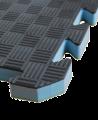 FW Sportmatte Club 24mm 1x1m  grün/grau Puzzle Wendematte (Bild-1)