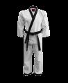 FW Hapkido Anzug Diamond Grip 160 weiß korean Style schwarzes Revers wy2018 (Bild-1)