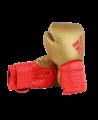 adidas Hybrid 300 Boxhandschuhe gold/rot adiH300 (Bild-1)