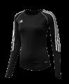 adidas T12 Clima Cool Shirt Langarm WOMAN schwarz adi X13170 (Bild-1)