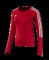 adidas T12 Clima Cool Shirt Langarm WOMAN Gr.44 rot L adi X13171 (Bild-1)