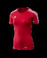 adidas T12 Team Shirt woman SS Gr.36 Kurzarm rot S adi X13801 (Bild-1)