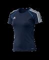 adidas T12 Team Shirt woman SS Gr.46 Kurzarm blau +L adi X13825 (Bild-1)