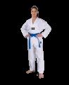 Fighter`s World TAEKWONDO Anzug JINYANG 110 cm weißer Kragen Aufdruck am Rücken (Bild-1)