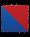 FW Kampfsportmatte Competition - Dreiecke  2er Set rot/blau Puzzle Wendematte (Bild-1)