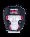FIGHTER Kopfschutz Sparring mit Jochbeinschutz Größe L schwarz/rot (Bild-1)