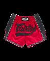 Fairtex Muay Thai Short satin rot/schwarz BS1703 (Bild-1)