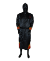 FW Boxer Mantel FLAME schwarze Robe mit Flammen Motiv (Bild-1)