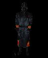 FW Boxer Mantel FLAME Gr. L schwarze Robe mit Flammen Motiv (Bild-1)