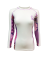 Fuji Sports Kimono Rashguard Damen Weiss/rosa (Bild-1)