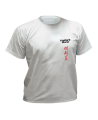 T-Shirt Taekwondo M grau mit Bestickung (Bild-1)