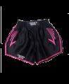FW CORNER Thaibox Hose schwarz/rose Muay Thai Short pink (Bild-1)