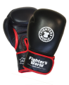 Fighter`s World  Linnox Training Boxhandschuhe 16 oz schwarz echt Leder (Bild-1)