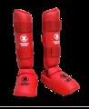 FW Karate Schienbein Fußschutz rot Fighter`s World (Bild-1)