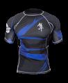 Hayabusa Metaru Rashguard Kurzarm schwarz/blau (Bild-1)