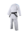 adidas K191SK Kumite Karate Anzug adiLight 165cm mit blauen Schulterstreifen (Bild-1)