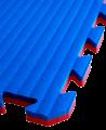 FW Sportmatte Eco 20mm 1x1m rot/blau Puzzle Wendematte (Bild-1)