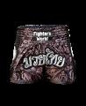 FW Thaibox Hose schwarz/grau Muay Thai Short (Bild-1)