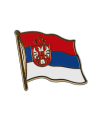 Flaggen-Pin Serbien mit Wappen (Bild-1)
