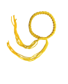 Muay Thai Armband Prajead gelb 2 Khan Armschmuck Prajiad (Bild-1)