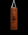 Fighter`s World Boxsack Queensberry original Leder 100 x 35cm braun (Bild-1)