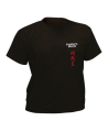 T-Shirt Taekwondo schwarz mit Bestickung (Bild-1)