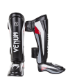 Venum Elite Stand up Shinguards Schienbein Ristschutz Black/Red/Grey 0986 (Bild-1)