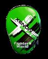 Fighter`s World XENON ALPHA Handpratze Focus Mitt green/black 1Paar (Bild-1)