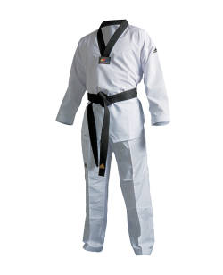adiTF01 TKD Fighter Uniform schwarzes Revers 170 WTF approved 170cm