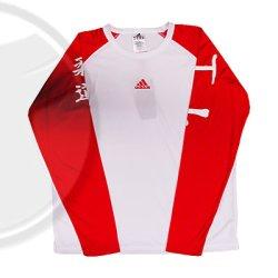 adidas Judo T-Shirt Langarm, weiß/rot