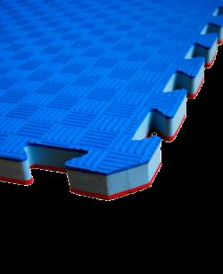 FW Kampfsportmatte Competition 1x1m rot/blau HQ Puzzle Wendematte