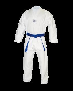 TaeKwonDo Anzug Ribbed weißes Revers