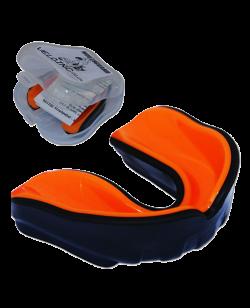 Zahnschutz Gel dual Farbe schwarz, innen orange