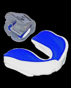 Zahnschutz Gel dual Farbe weiß, innen blau
