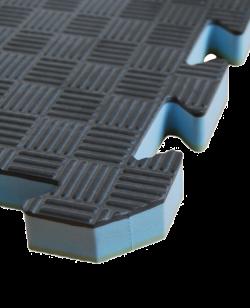 FW Sportmatte Club 24mm 1x1m  grün/grau Puzzle Wendematte