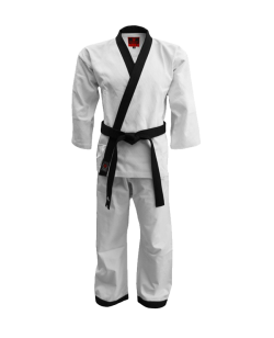 FW Hapkido Anzug Diamond Grip weiß korean Style schwarzes Revers
