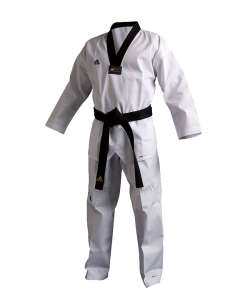 adidas Taekwondo Anzug Champion 3 III Uniform 170 schwarzes Revers WTF adiTCH03 170cm