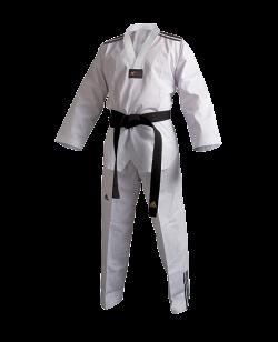 adidas Taekwondo Anzug Club 3 Streifen 190 weißes Revers adiTCB02 190cm