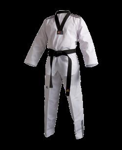 adidas Taekwondo Anzug Club 3 Streifen schwarzes Revers adiTCB02