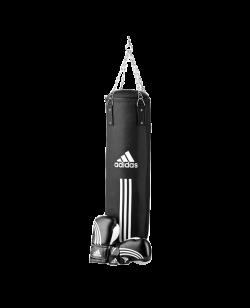 adidas Boxing Bag SetBoxsack Boxhandschuhe 12 oz Bandage 2.55m schwarz adiBPKIT03