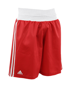 adidas Boxing Shorts Punch Line rot weiss ADIBTS02