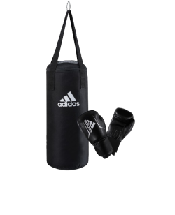 adidas Boxing Set Junior schwarz/weiß Boxsack+ Boxhandschuhe adiBACJR