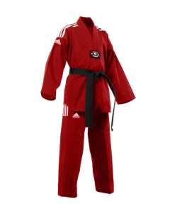 adiTCC01 TKD Champion Color Uniform rot/weiss