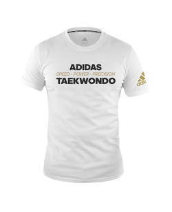 "adidas Community T-Shirt ""Power"" TAEKWONDO weiß adiTCL02"