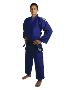 adidas Champion 2 II IJF - Slim Fit, Judo Anzug blau