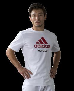 adidas Community T-Shirt Karate weiß/rot