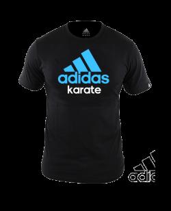 adidas Community T-Shirt Karate schwarz/blau adiCTK