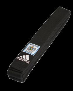 adidas Judo Dan Gurt Elite schwarz mit blauem IJF Label adib240 260 cm